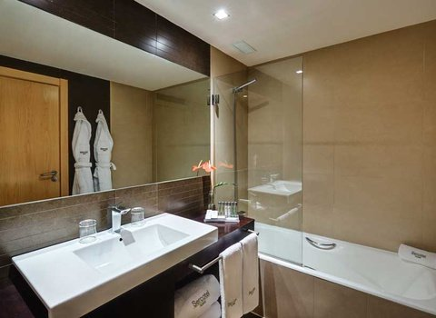 Bathrooms equipped with all amenities
